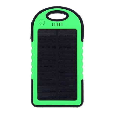 Power Bank Es500 es500 solar charger 5000mah built in led flashlight dual