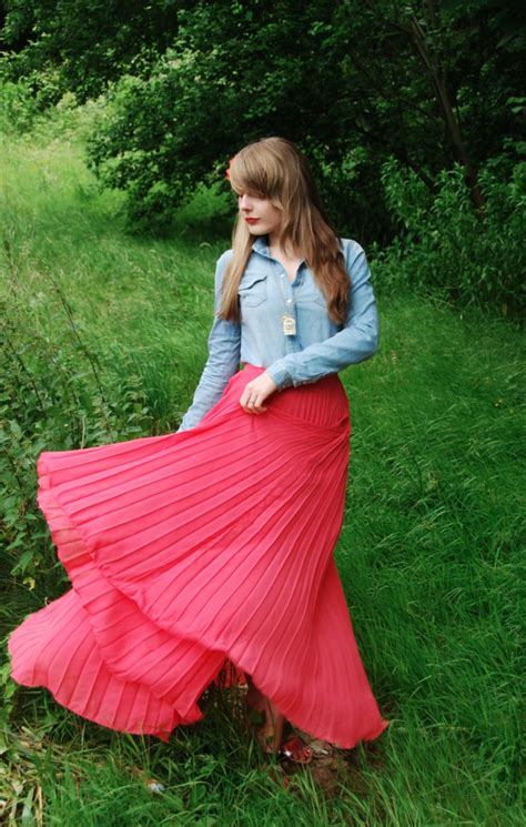 pink maxi skirts denim shirts raindrops of sapphire