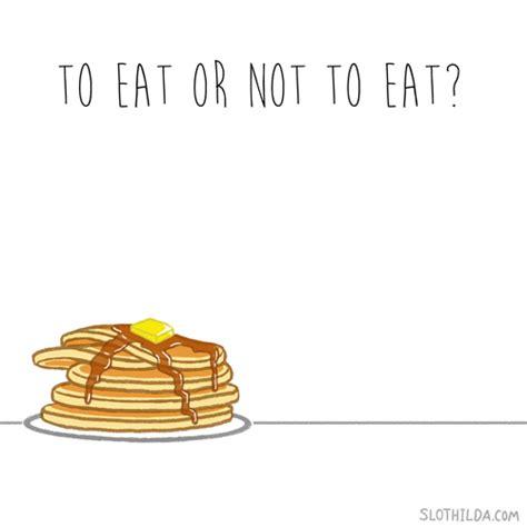carbohydrates gif gif kawaii comic animation sloth pancakes