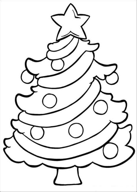simple christmas tree coloring pages simple christmas tree coloring pages