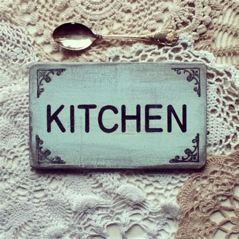 kitchen shabby chic wooden sign home decor by gretaloves