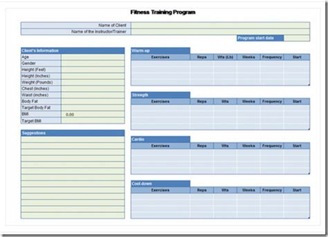 weight loss planner template plan workouts and keep track of weight loss with microsoft