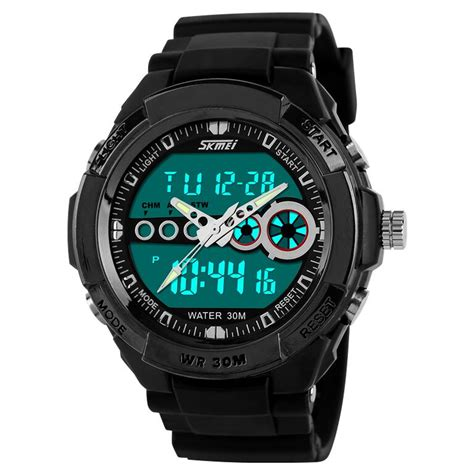 skmei casio sport led water resistant 30m ad0942 black jakartanotebook