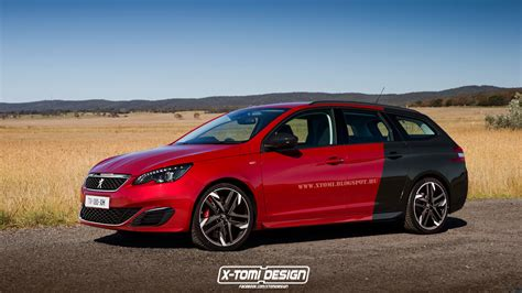 peugeot 308 gti peugeot 308 gti sw rendered looks perfect for
