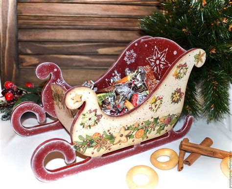 Decoupage Shop - sleigh decoupage shop on livemaster
