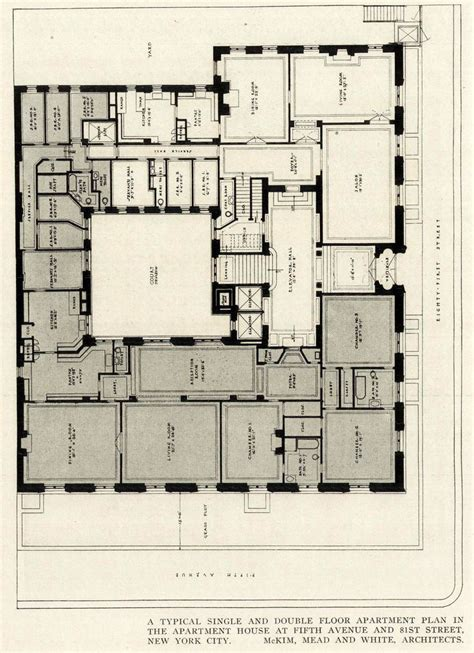 new york apartment floor plans 84 best images about architects makim meade white on the new york and classic