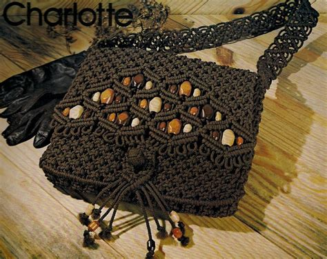 Macrame Purse Patterns - beaded macrame handbag purse pattern 7107 purse