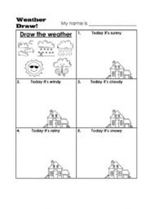 weather pattern drawing english worksheets draw the weather