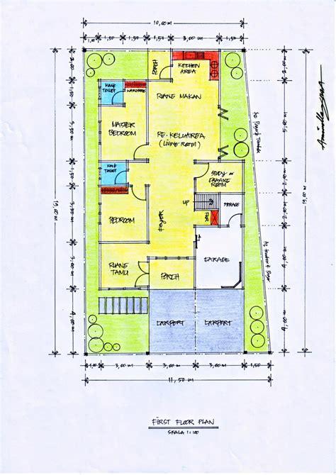 desain rumah diatas lahan berbentuk trapesium pt architectaria media cipta