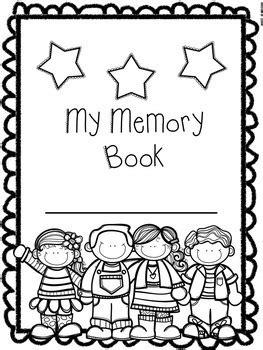 End Of The Year Memory Book For Preschool Pre K And Kindergarten Preschool Memory Book Template