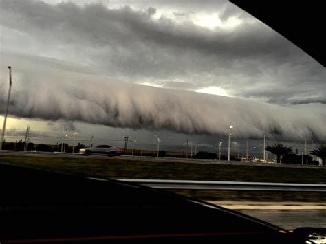 another shelf cloud engulfs florida on march 29