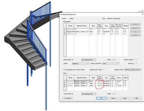 revit tutorial stairs revit stairs baluster newel base offset autodesk community