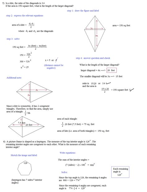Geometry Review Worksheets by Geometry Practice Test 2 Answers Math Plane Challenging
