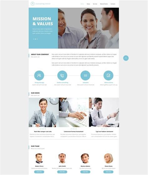 6 Of The Best Bootstrap Website Templates For Psychologists Counselors Mental Health Mental Health Website Templates