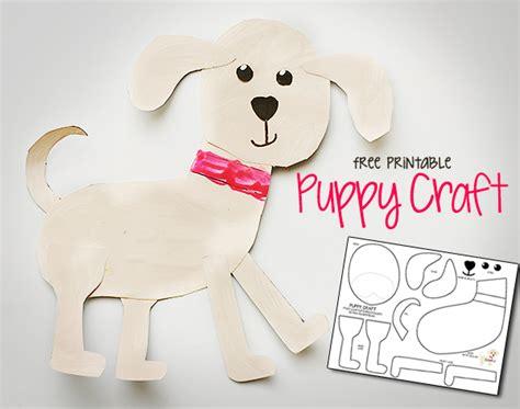 puppy craft printable puppy craft