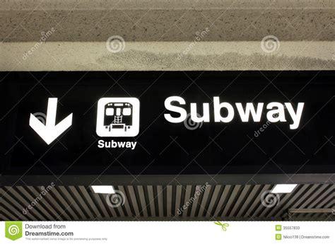 Subway Sign Stock Photos   Image: 35557833