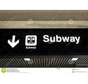 Subway Sign Stock Photos  Image 35557833