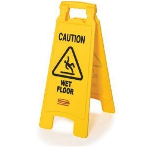 Rubbermaid Yellow Caution Wet Floor Sign