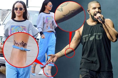 rihanna and drake get matching tattoos