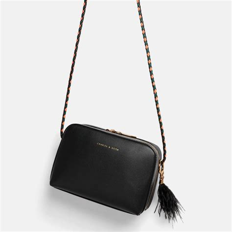 Zip Sling Bag black duo zip sling bag charles keith things i liek