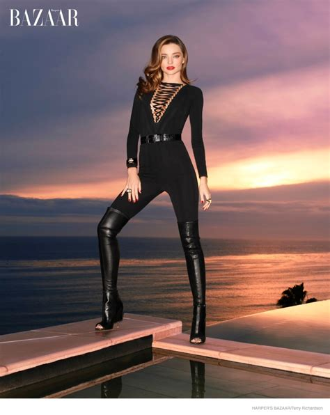 Harpers Bazaar Its Here by Miranda Kerr Poses For S Bazaar Opens Up About