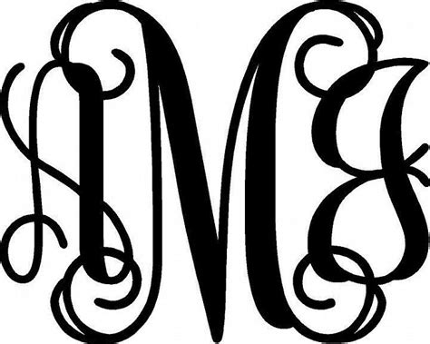 17 Vine Interlocking Font For Silhouette Images Interlocking Vine Monogram Font Interlocking Monogram Letters Template