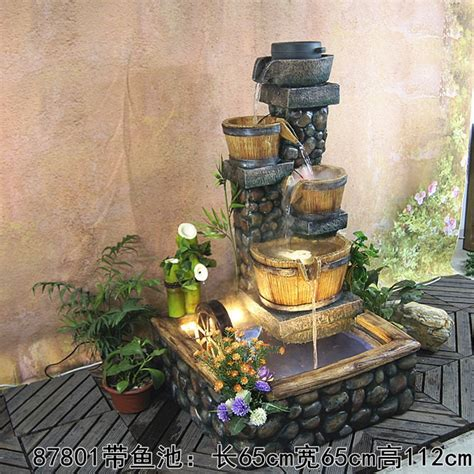 hotels water fountain  pump fish pond feng shui