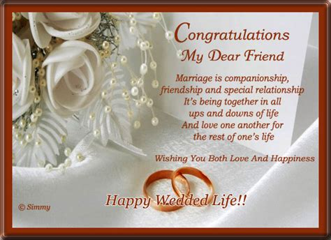 Wedding Congratulation To A Friend by Wedding Wishes For Best Friend Lifestyles Ideas