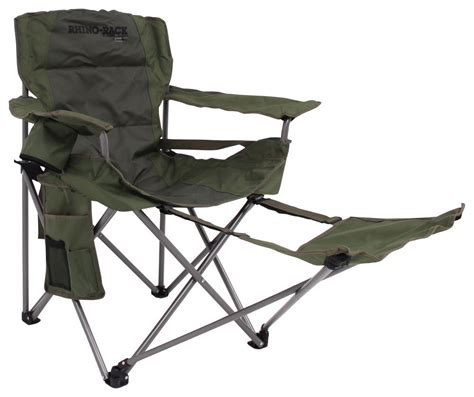 Rhino Rack Slumber Camping Chair with Footrest   Foldable