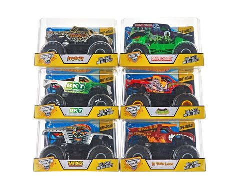 mattel monster jam mattel wheels monster jam 1 24 hwmcby61 toys