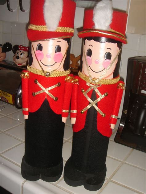 toy soldier craft for kids soldiers i made from shrink wrap nutcracker porch sitter 2014 pattern ideas