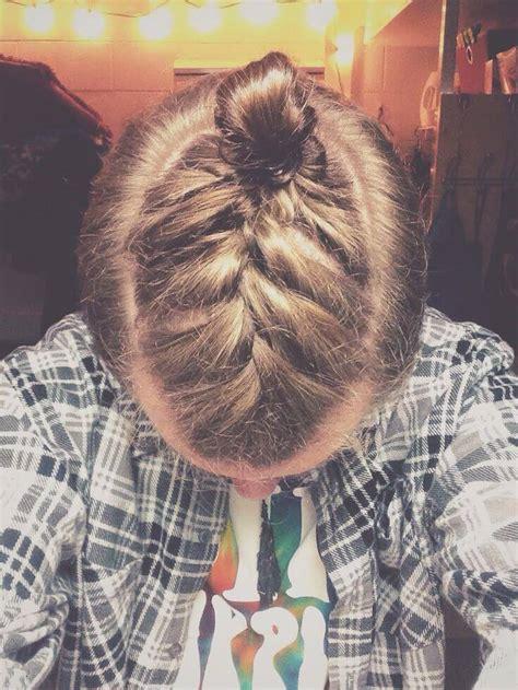 man bun braids  surprising  mens hair trend