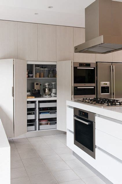 modern ready made kitchen cabinet modern pantry cupboards appliance cupboard behind full length doors how to get