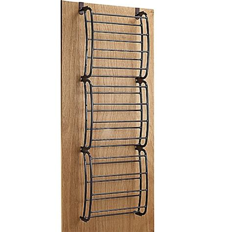 shoo rack bathroom 36 pair over the door shoe rack in bronze bed bath beyond