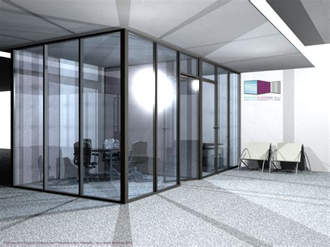 am駭agement chambre 騁udiant types de configuration en vue 3d espace cloisons alu ile
