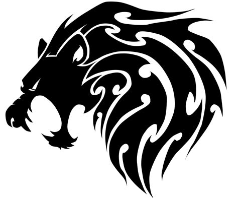 tattoo tribal lion head tribal lion head by sparkythebadger on deviantart