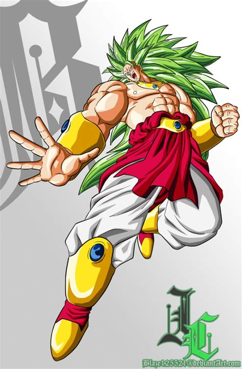 Kaos Z Saiyan Broli commission lssj3 broly by jamalc157 on deviantart