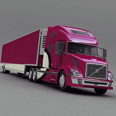 volvo semi truck models semi truck refrigerator 3d model