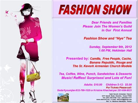 templates for fashion show flyers spring fashion show flyer templates free