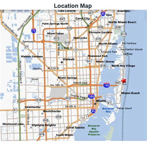 miami map miami map my