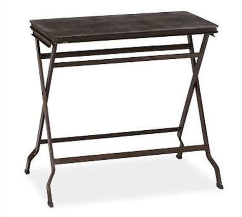 folding accent table carter metal folding tray table black traditional tv