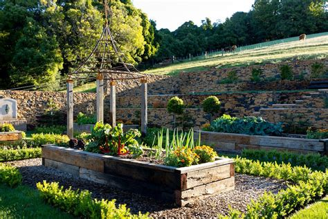 Terrace Vegetable Garden Terrace Vegetable Garden Landscape Farmhouse With