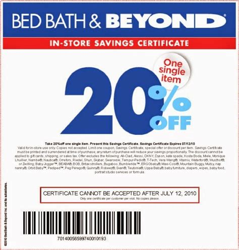 bed bath and beyond coupons 2014 at 8 25 pm