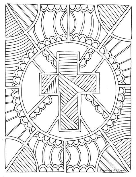 great christian doodle design adult coloring therapy