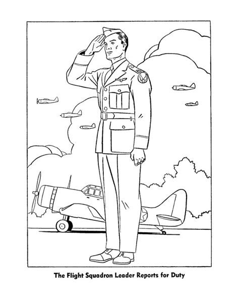 veterans day coloring page to print veterans day coloring pages army air corps officer