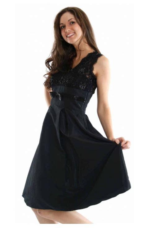 schwarze kleider knielang