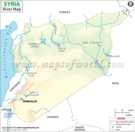 syria map of syria river map