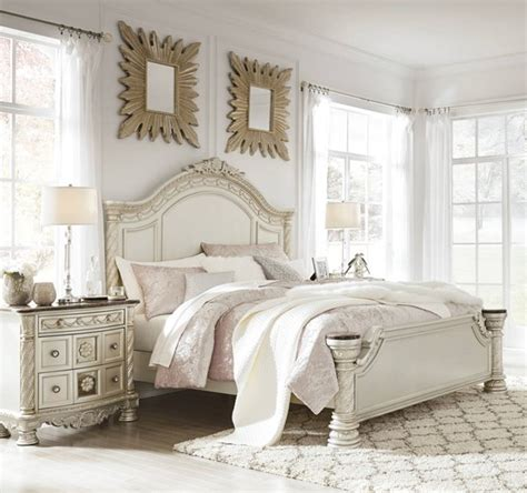 ashley furniture cassimore pc bedroom set  queen panel bed  classy home