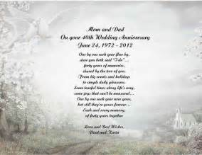 Wedding Anniversary Poems For Parents by 40th Wedding Anniversary Poem Gift For Anyone Ebay