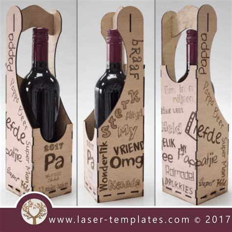 Afrikaans Pappa Wine Box Template 2017 Fathers Day Design Laser Cut And Engraving Online Laser Cut Wine Box Template